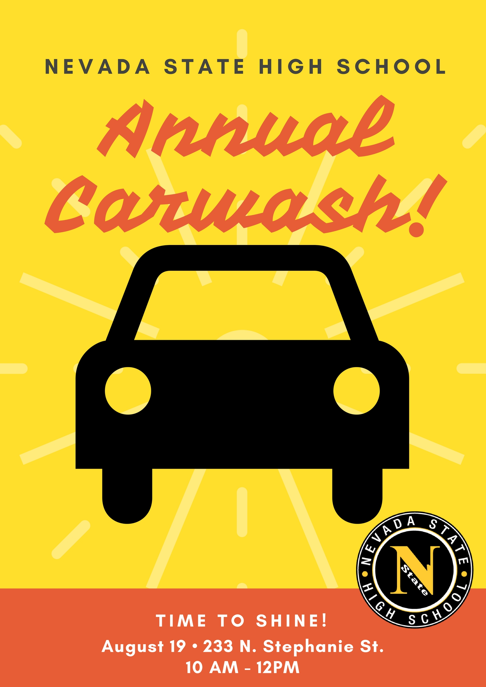 Car Wash Sponsorship 2017 Nevada State High School